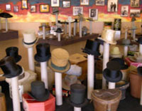 Top Hats and other hats at the Cowboys and Hatters exhibit